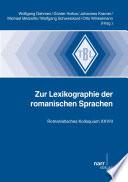 Lexikographie der romanischen Sprachen