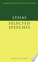 Lysias: Selected Speeches