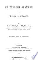 An English Grammar For Classical Schools book