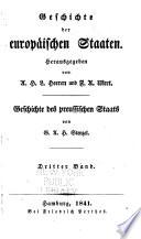 Geschichte des preussischen Staats: th. Von 1688 bis 1739. 1841