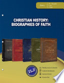 Christian History  Biographies of Faith Parent Lesson Planner