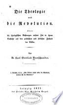 Die theologie und die revolution