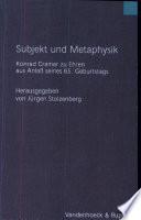 Subjekt und Metaphysik