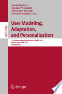 User Modeling  Adaption  and Personalization