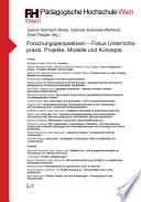 Forschungsperspektiven - Fokus Unterrichtspraxis: Projekte, Modelle und Konzepte. Sonderband