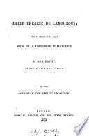 Marie Th  r  se de Lamourous  a biography  abridged from the Fr   of F  Pouget  by the author of  The heir of Redclyffe