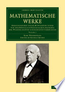 Mathematische Werke  Volume 7