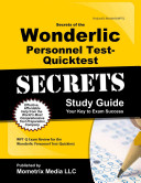 Secrets of the Wonderlic Personnel Test Quicktest Study Guide
