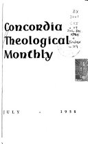 concordia theological monthly