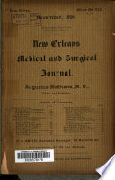 New Orleans Medical and Surgical Journal