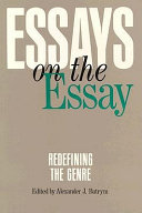 Essays on the Essay: Redefining the Genre
