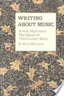 Writing about Music