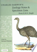 Charles Darwin s Zoology Notes and Specimen Lists from H  M  S  Beagle