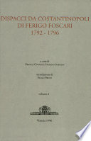 Dispacci da Costantinopoli di Ferigo Foscari   1792   1796   Vol II