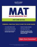 KAPLAN MAT  2007 2008 EDITION  MILLER ANALOGIES TEST