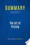 Summary: The Art of Pricing
