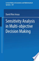 Sensitivity Analysis In Multi Objective Decision Making