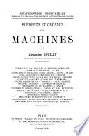 El  ments et organes des machines
