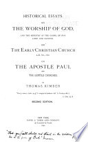 Historical Essays on the Worship of God Book PDF
