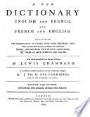 Nouveau dictionnaire, françois-anglois & anglois-françois ...