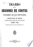 Diario de las Sesiones de Cortes  Congreso de los Diputados