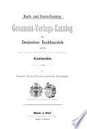 Buch- un Kunst-Katalog