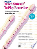 Alfred S Teach Yourself To Play Recorder book
