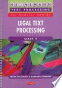 Legal Text Processing