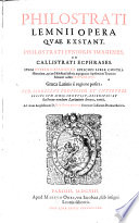 Opera, quae extant, Philostrati iunioris imagines et callistrati ecphrases