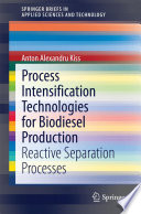Process Intensification Technologies for Biodiesel Production