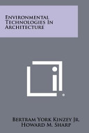 Environmental Technologies in Architecture