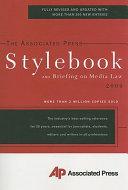 Book The Associated Press Stylebook 2009