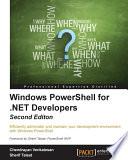 Windows PowerShell for .NET Developers