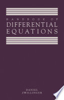 Handbook of Differential Equations