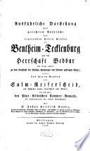 Ausführliche Darstellung der gerechten Ansprüche des Grafen zu Bentheim-Tecklenburg auf die Herrschaft Bedbur, gegen den Grafen von Salm-Reiferscheid