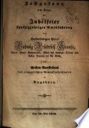 Festgesang am Tage der Jubelfeier fünfzigjähriger Amtsführung des ... S. F. Krauß, als Ersten Vorstehers des evangelischen Armenkinderhauses in Augsburg