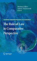 The Rule of Law in Comparative Perspective Book