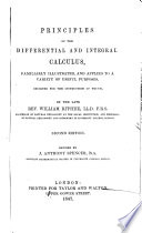 Principles of the Differential and Integral Calculus, etc