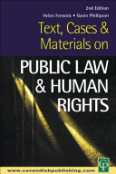 Text  Cases and Materials on Public Law and Human Rights Law This Book Has Been Comprehensively Revised To