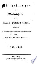 Mittheilungen und Nachrichten für die evangelische Geistlichkeit Russlands [afterw.] die evangelische Kirche in Russland, herausg. durch C.C. Ulmann