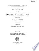 Catalogue of the Dante Collection Presented by Willard Fiske