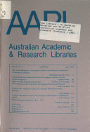 Australian Academic and Research Libraries