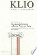 Die römische Nobilität im Ersten Punischen Krieg
