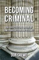 Becoming Criminal Book