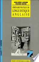 Séminaire pratique de linguistique anglaise