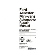 Ford Aerostar mini van automotive repair manual