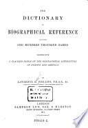 """The"" Dictionary of Biographical Reference"