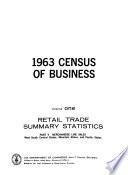 1963 Census of Business  Retail trade  summary statistics