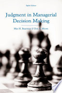 Judgment In Managerial Decision Making 8th Edition