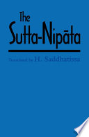 The Sutta Nipata